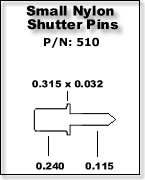 Small Nylon Shutter Pins