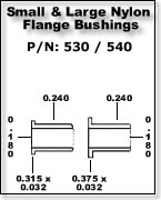 Small & Large Nylon Flange Bushings
